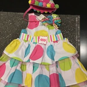 Mud Pie 3 Year Old Dress and Hat
